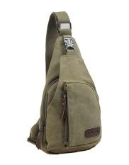 niceEshop Canvas Mens Shoulder Bag Chest Pack Crossbody Sports Bag,Army Green