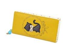 NiceEshop Cute Women Pu Leather Purse Bifold Clutch Long Zipper Wallet Handbag (Yellow)