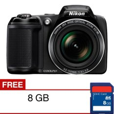 Nikon Coolpix L340 Kamera Digital - 20.2 MP - 28x Optical Zoom + SD Card 8GB