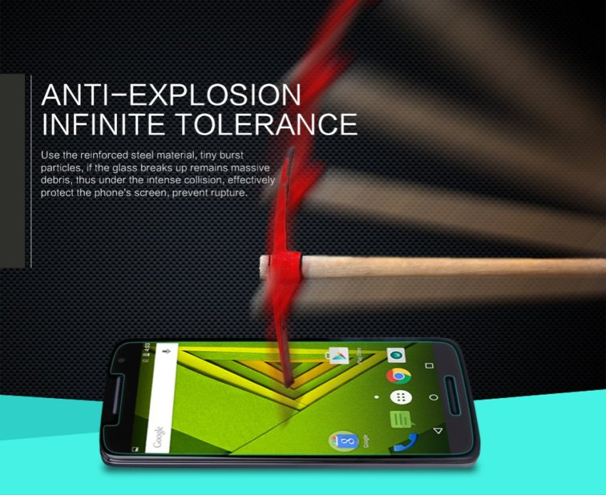 NILLKIN Amazing H Nano Ant-burst Tempered Glass Screen Protector for MOTO X Play (Intl)