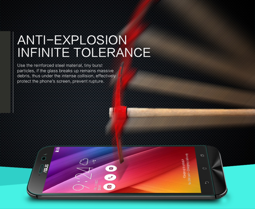 Nillkin Amazing H Nanometer Anti-Explosion Tempered Glass Screen Protector for Asus Zenfone Zoom (ZX551ML) (Intl)