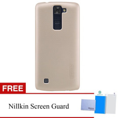 Nillkin For LG K8 Super Frosted Shield Hard Case Original - Emas + Gratis Anti Gores Clear