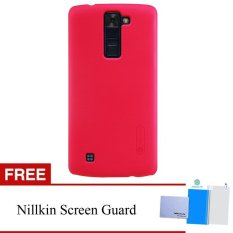 Nillkin For LG K8 Super Frosted Shield Hard Case Original - Merah + Gratis Anti Gores Clear