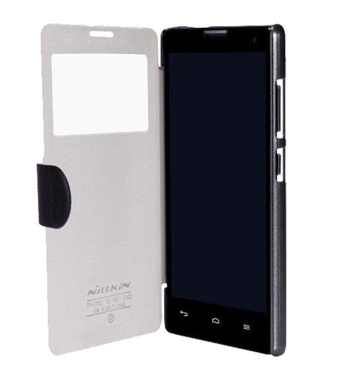 Nillkin Huawei Honor 3c Fresh Leather Flip Cover Case - Hitam