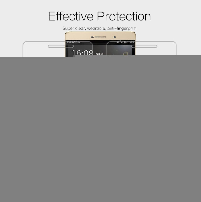 Nillkin Super Clear Anti- fingerprint Protective Film Screen Protector for Huawei Ascend P8 Max (Clear) (Intl)