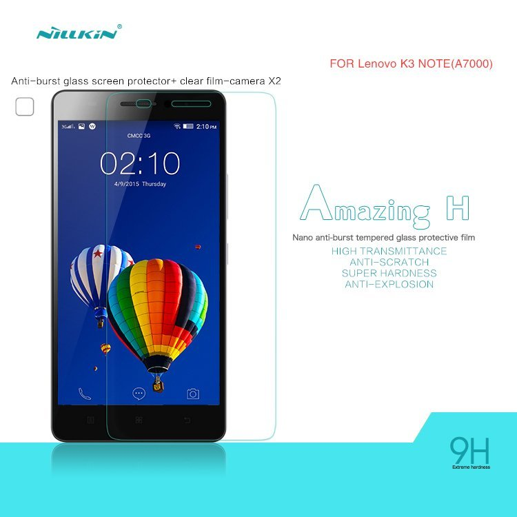 Nillkin Tempered Glass Screen Protector Screen Guards for Lenovo K3 Note (Intl)