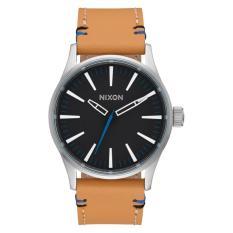 NIXON Sentry 38 Leather Black / Nature Jam Tangan Unisex A3772299 - Leather - Brown