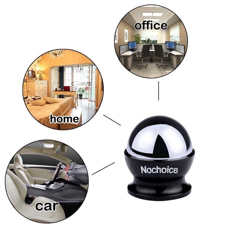 NoChoice 3 in 1 Rotatable Car Kit Mount Magnetic Holder Flexible Phone Stand For Universal Cell Phone (Black) (Intl)