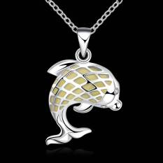 Noctilucent Pendant Necklace Trendy Dolphin Shaped SLYYGN021-A - Intl