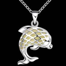 Noctilucent Pendant Necklace Trendy Dolphin Shaped SLYYGN021-B - Intl