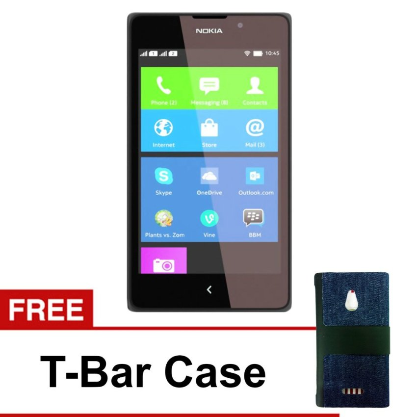 Nokia - XL Android - 4GB - Hitam - Free T-Bar Case