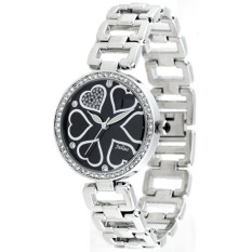 Nonof Julius Julius Quartz Crystal Diamond Heart Fei Language Strip Fashion Waterproof Wrist Table JA-569F White Lady Students