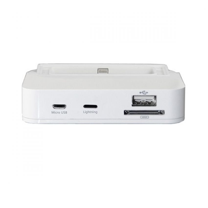 Noosy All in One Magic Lightning Dock for Apple iPhone 5 - HD02 - Putih