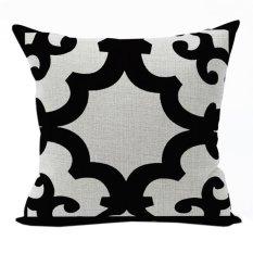 Nunubee Classic Home Pillow Covers Cotton Linen Bed Pillowcase Decorative Cushion Cover Black 1 - Intl