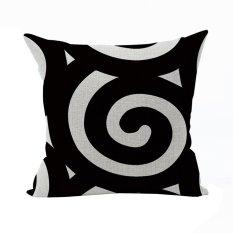 Nunubee Classic Home Pillow Covers Cotton Linen Bed Pillowcase Decorative Cushion Cover Black 2 - Intl