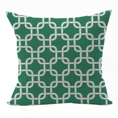 Nunubee Classic Home Pillow Covers Cotton Linen Bed Pillowcase Decorative Cushion Cover Green 6 - Intl