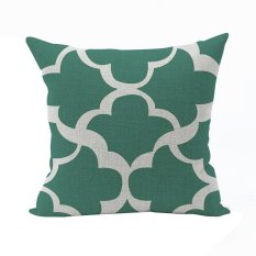 Nunubee Classic Home Pillow Covers Cotton Linen Bed Pillowcase Decorative Cushion Cover Green - Intl