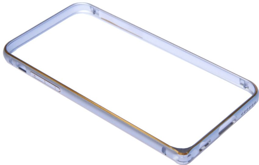 OEM Aluminium Screwless External Bumper Case for Apple iPhone 6 - Silver-Emas