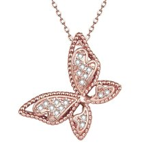 OEM N061-B High Quality Nickle Free Antiallergic New Fashion Jewelry 18K Plated Zircon Necklace (Intl)