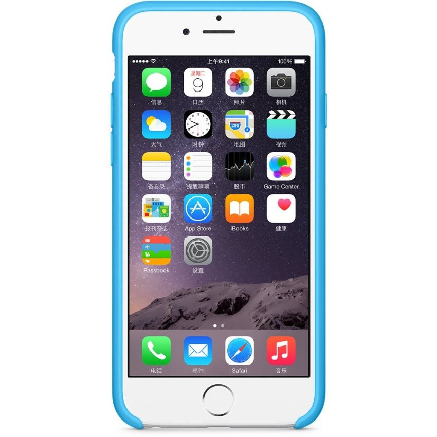 Official Silicone Case for iPhone 6 Plus 5.5 Inch Blue