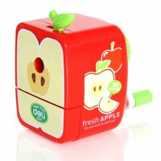 OH Fruit Pattern Desktop Student Hand Cranked Pencil Sharpener Stationery Cute Apple - Intl