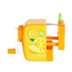 OH Fruit Pattern Desktop Student Hand Cranked Pencil Sharpener Stationery Cute Orange (Intl)