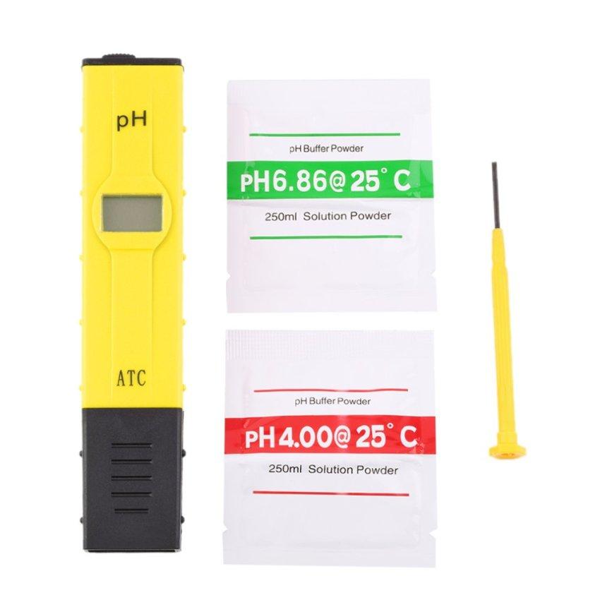 OH New Pocket LCD Digital PH 0-14 Meter Tester Pen Type Aquarium Pool Water Yellow