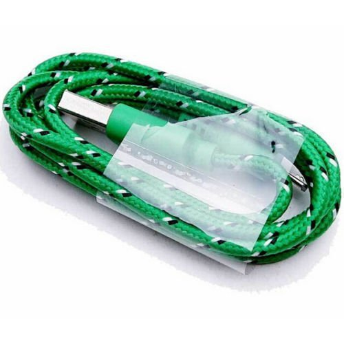 Okdeals Braided Cable Data Sync Cord For Cell Phones 3M Green