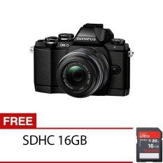 Olympus Digital Camera OM-D E-M10 with 14-42mm Black + Gratis SDHC 16GB