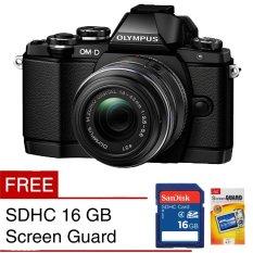 Olympus Kamera Mirrorless OM-D E-M10 Mark II - 16MP - Hitam + Gratis SDHC 16 GB + Sceen Guard