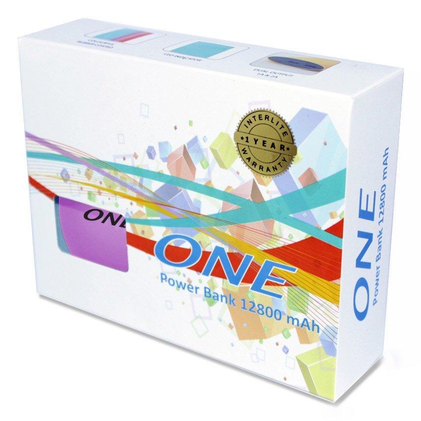 One Powerbank One 1280 Rubber Coated Body – 12800 mAh - Ungu