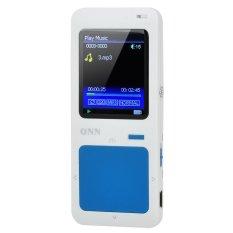 "ONN Q7 Ultra-Slim Sporting 1.8"" Screen MP4 Player W / FM - Blue + White (4GB) - INTL"