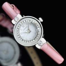 Ooplm ASNNS Genuine Fashion Exquisite Compact Ring Diamond Cutting Mirror Quartz Watch Strap