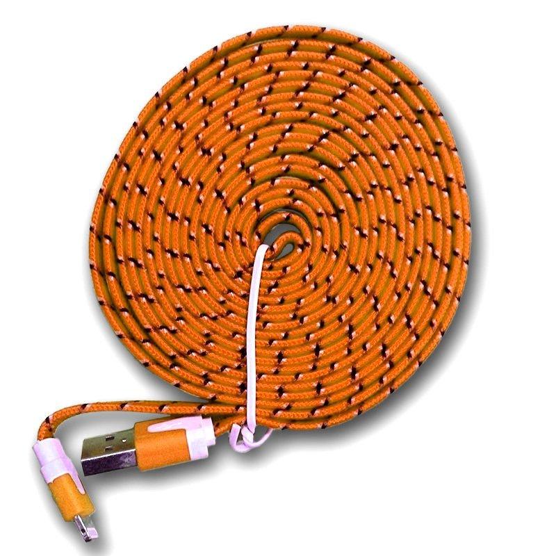 Optimuz Fabric Cable 3 Meter - Oranye