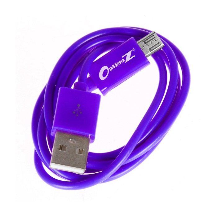 OptimuZ Kabel Micro USB V8 - 1M - Ungu