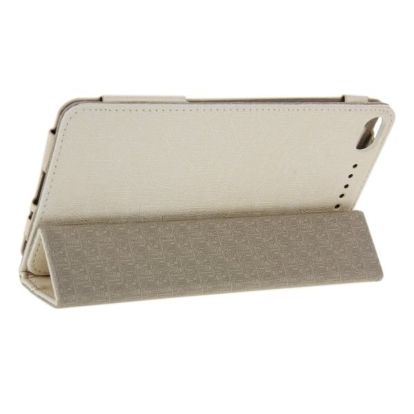 Oracle Texture Magnetic Leather Case Cover with Holder for Lenovo A770N 6.85inch (Khaki) (Intl)
