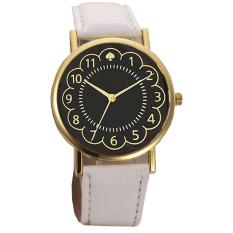 Ormano - Jam Tangan Wanita - Putih - Strap Kulit - Gold Ring Rossy Lady Watch