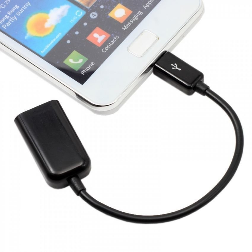 OTG USB Adapter Micro Usb Cable Connect Kit for Android - Hitam