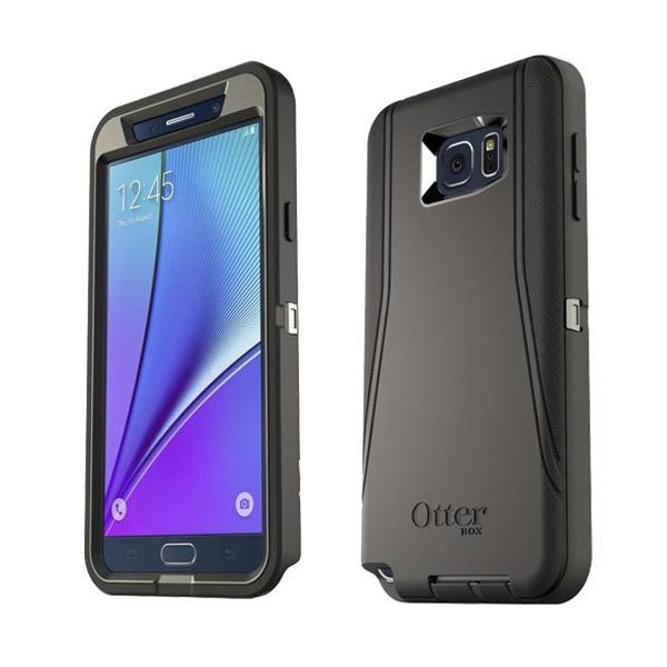 OtterBox Asli Samsung Note5 Case -  Galaxy Defender Series - Hitam