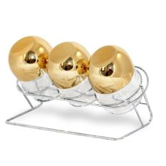 Oxone OX-353R Toples 3pc Gold Capsule with Rack