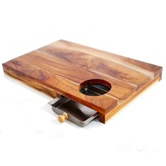 Oxone OX-614 Bamboo Board with Metal Tray
