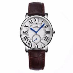 Oxoqo IBSO Boerni Aibisino Women's Girl Genuine Leather Waterproof Quartz 2 Dials Roman Numerals High Quality Wrist Watch D6801