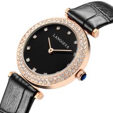Oxoqo LANGGEYA Fashion Watches Women Diamond Import Movement Waterproof Really Belt Quartz Female Form