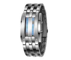 Oxoqo SKMEI Classic Creative Quart Binary LED Wrist Watches (Silver)
