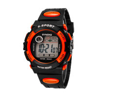 Oxoqo SYNOKE Unisex Student Fashion Digital Wristband Watches (Orange)