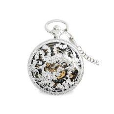 Oxoqo Vintage Watches Mechanical Watch Men Watch Flip Bronze Green Silver Phoenix Ancient Authentic Watch Box
