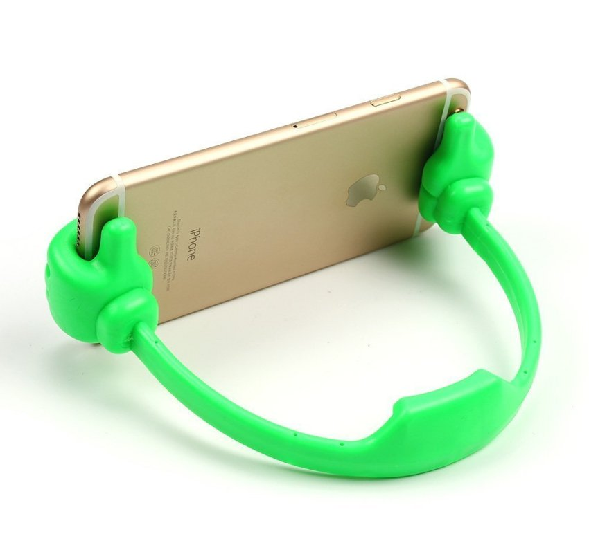 Palm Phone Holder Desk Stand for Apple iPhone Samsung HTC Nexus Tablet Tab (Green) (Intl)