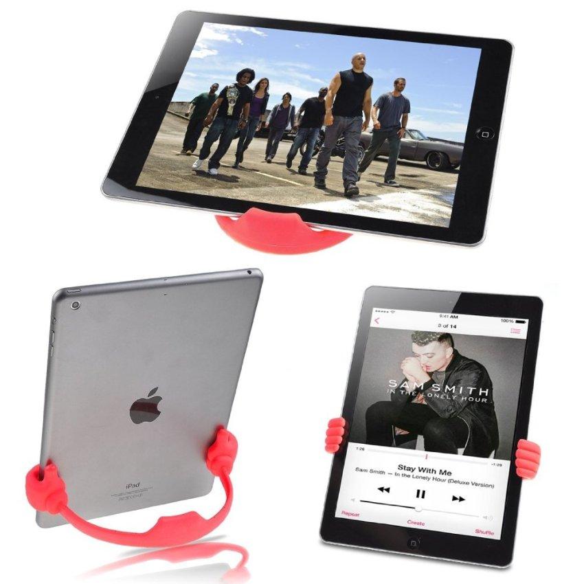 Palm Phone Holder Desk Stand for Apple iPhone Samsung HTC Nexus Tablet Tab (Purple) (Intl)