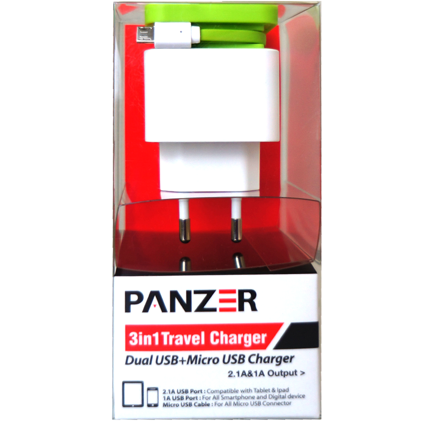 Panzer 3 in 1 Travel Charger