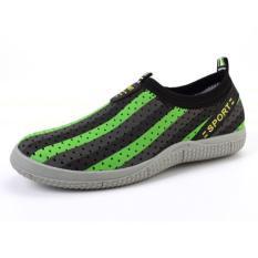 PATHFINDER Men's Summer Breathable Shoes EVA Slip Ons AD4 (Green)